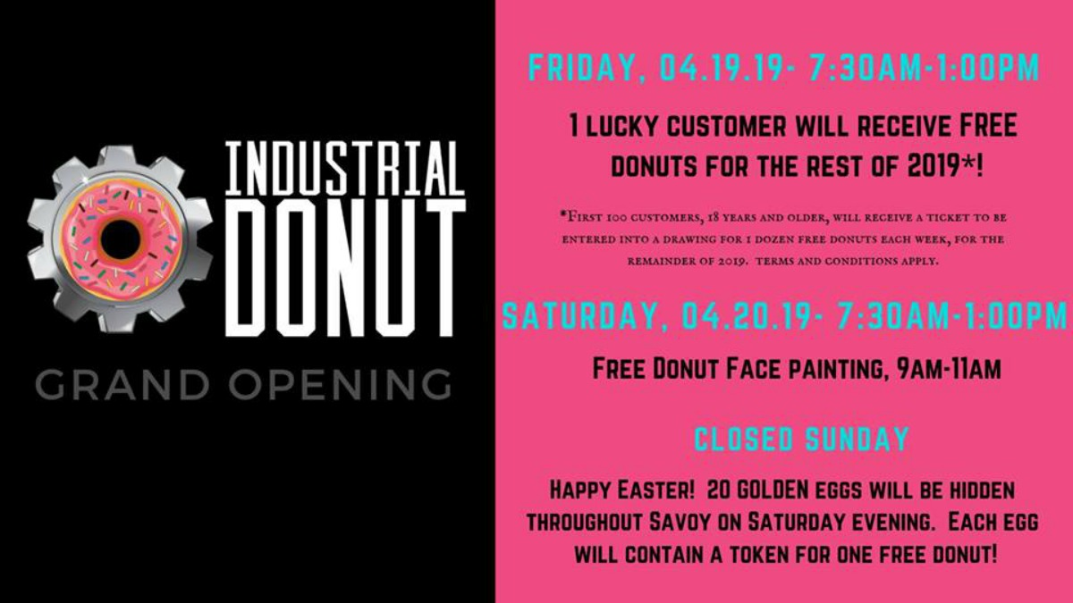 Industrial Donut in Savoy Announces Grand Opening Weekend