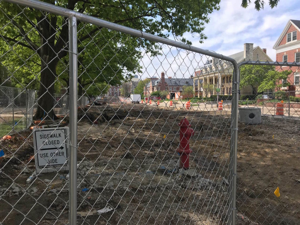 campustown construction in summer 2019