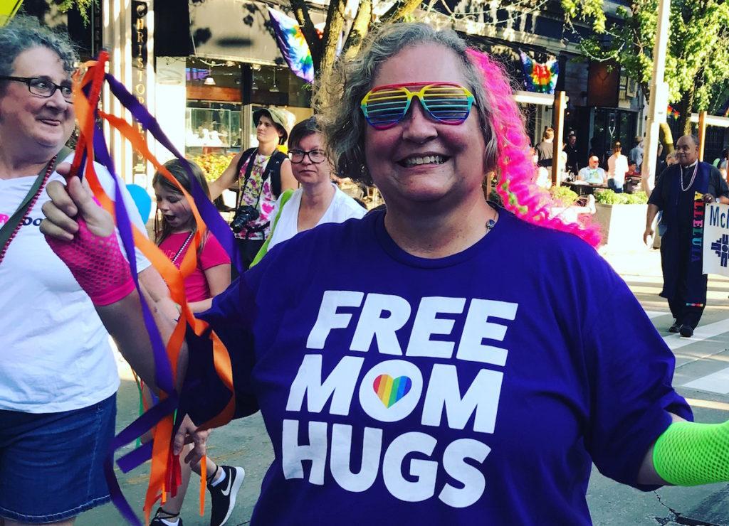 free mom hugs at CU Pride
