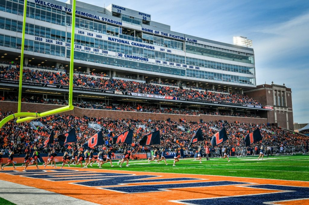October 13, 2018<br /> Illinois Football vs. Purdue in Champaign, Illinois<br /> Photo Credit: Craig Pessman / Illinois Athletics