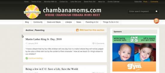 Screenshot-chambanamoms early 2010