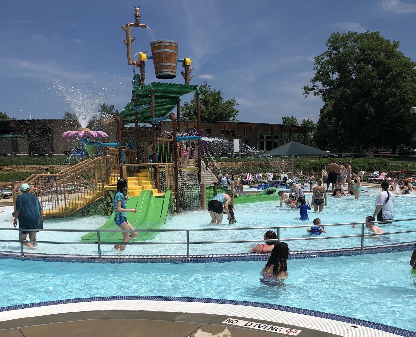 Main activity pool at Crystal Lake Park Family Aquatic Center
