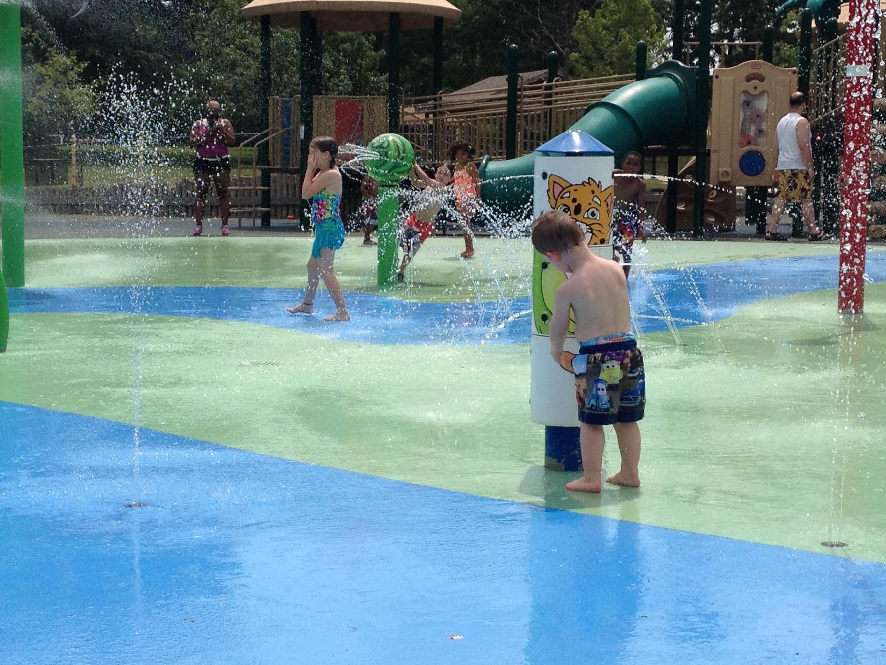 Splash Pad at Miller Park in Bloomington, IL