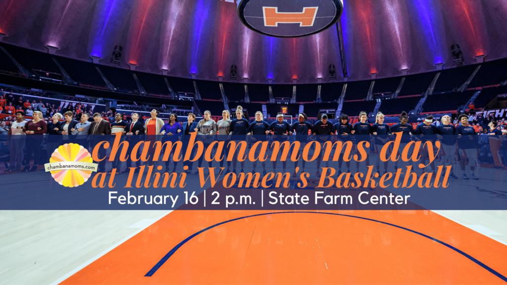 Chambanamoms day at Illini Women's Basketball