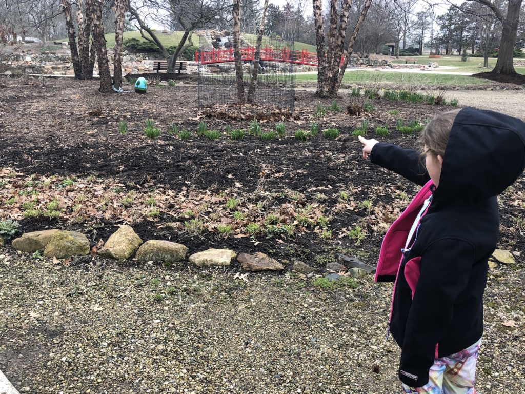 Child spots an egg at Lake of the Woods