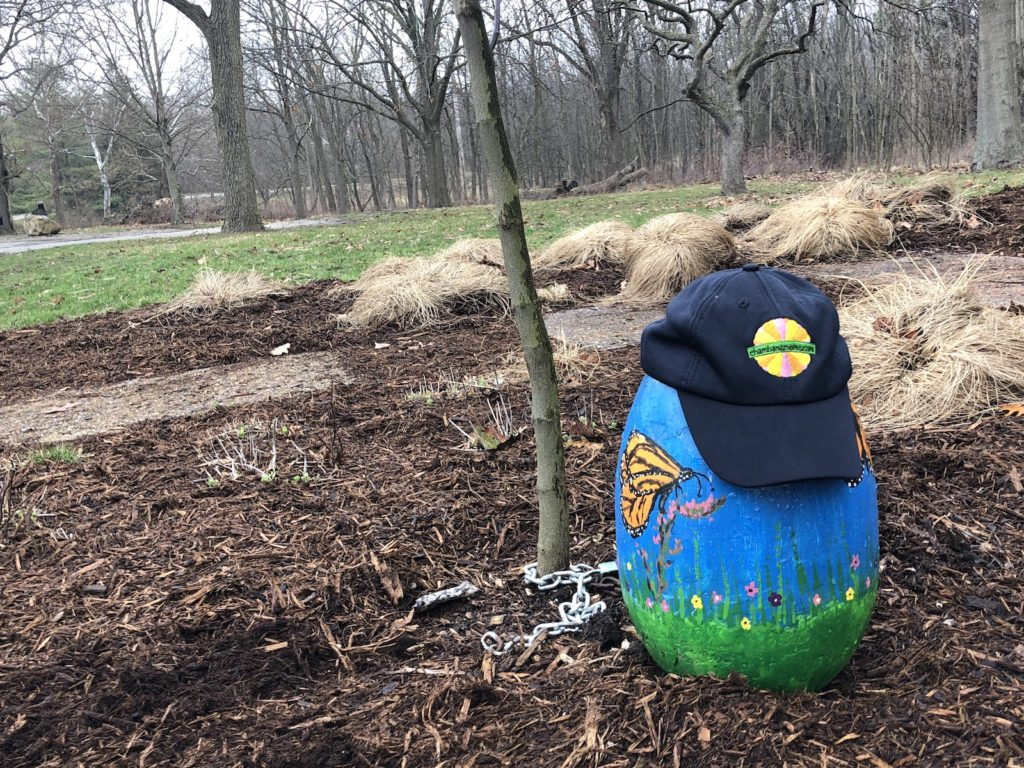 Find the Easter egg rocks at Champaign County Forest Preserves