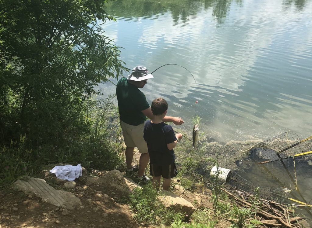 Fishing at Riverbend Forest Preserve in Mahomet
