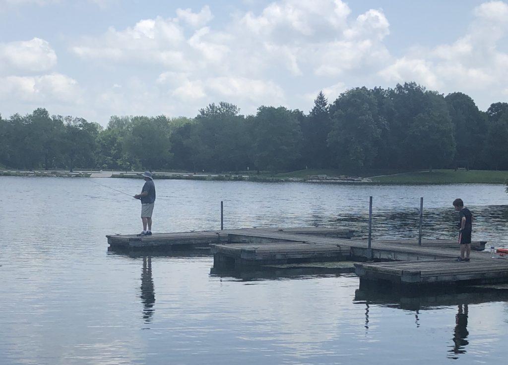 Fishing at Homer Lake in Homer