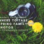 Where to take spring family photos in Champaign-Urbana