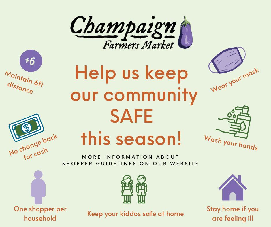 Champaign Farmers Market safe season