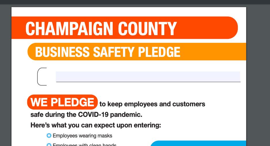 Champaign county safe pledge