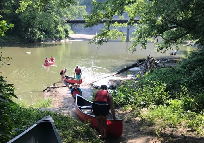 Canoeing a River as a Family