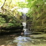 waterfall at matthiesen state park
