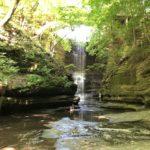 waterfall at matthiesen state park