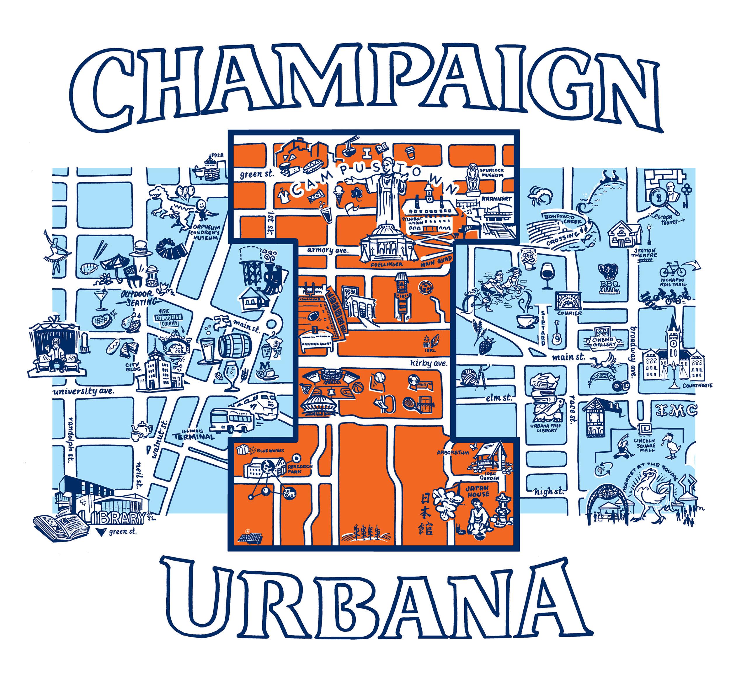 champaign urbana tote and tshirt design chambanaproud