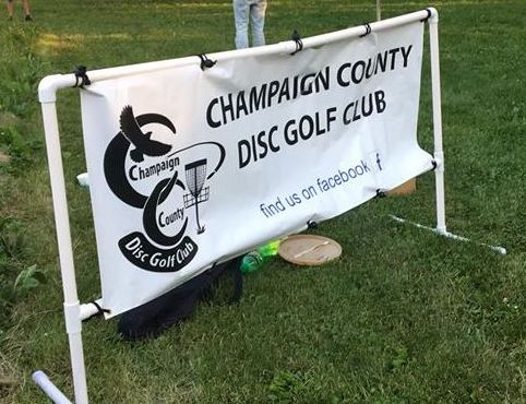 Sign for Champaign County Disc Golf Club