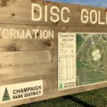 map of Dodds Park Disc Golf Course