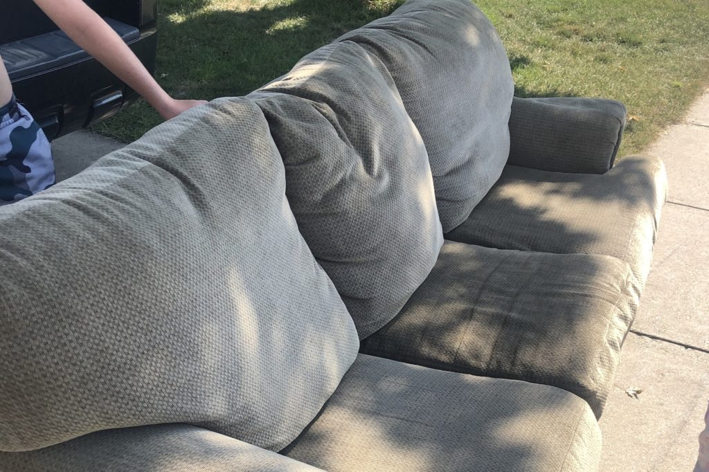 Move your furniture outside
