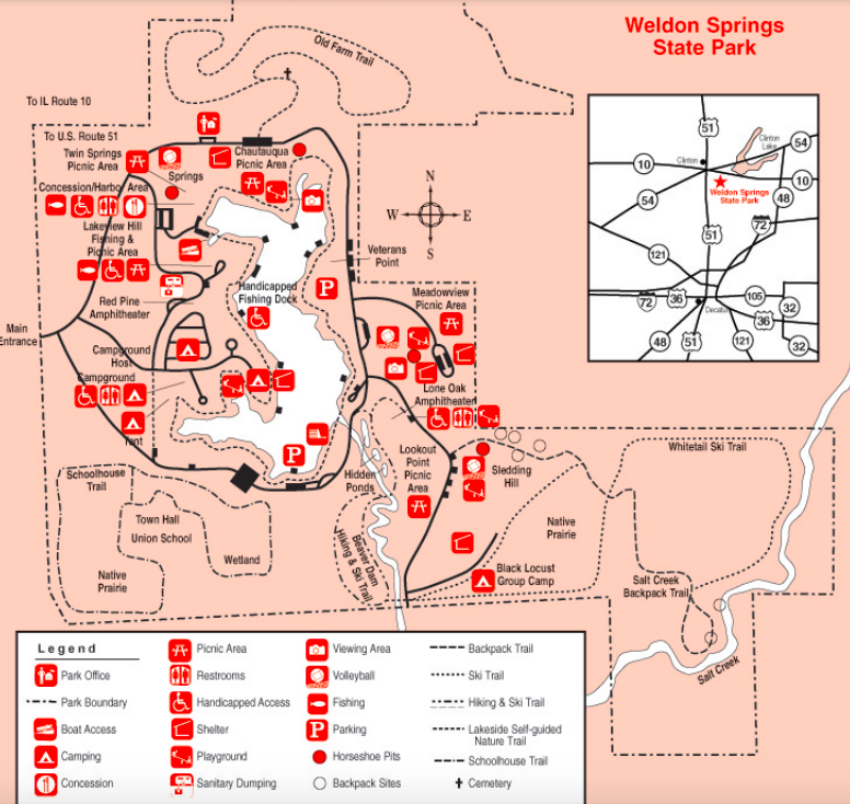 Weldon Springs Map