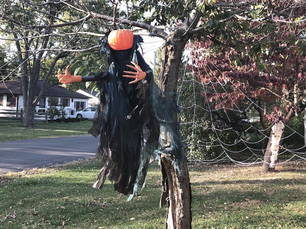 Halloween yard decor in Champaign