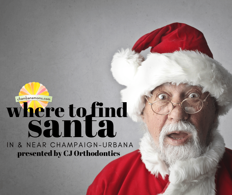 where to find santa in and near champaign urbana presented by cj orthodontics