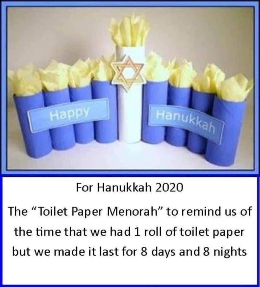 Hanukkah toilet paper 2020