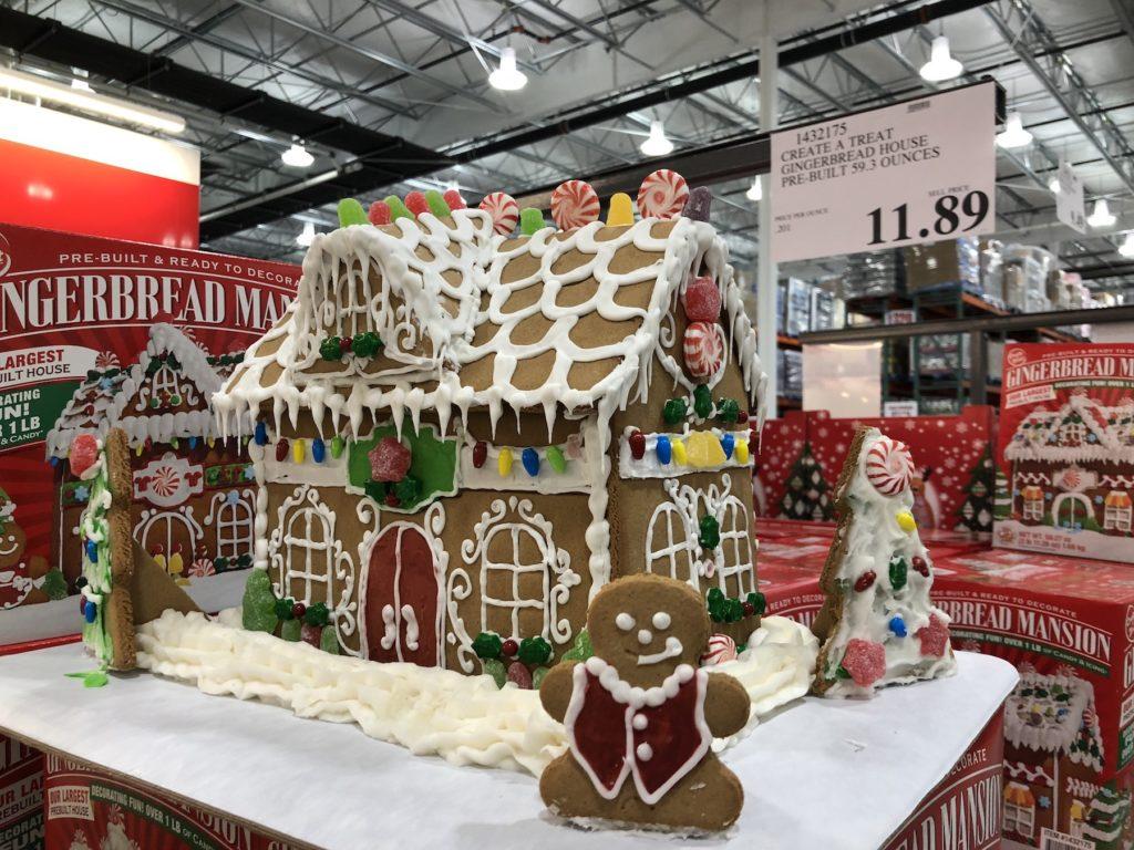 costco prebuilt gingerbread house