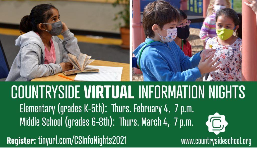 Countryside Virtual Info Nights