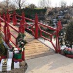 Festive bridge at Lake of the Woods