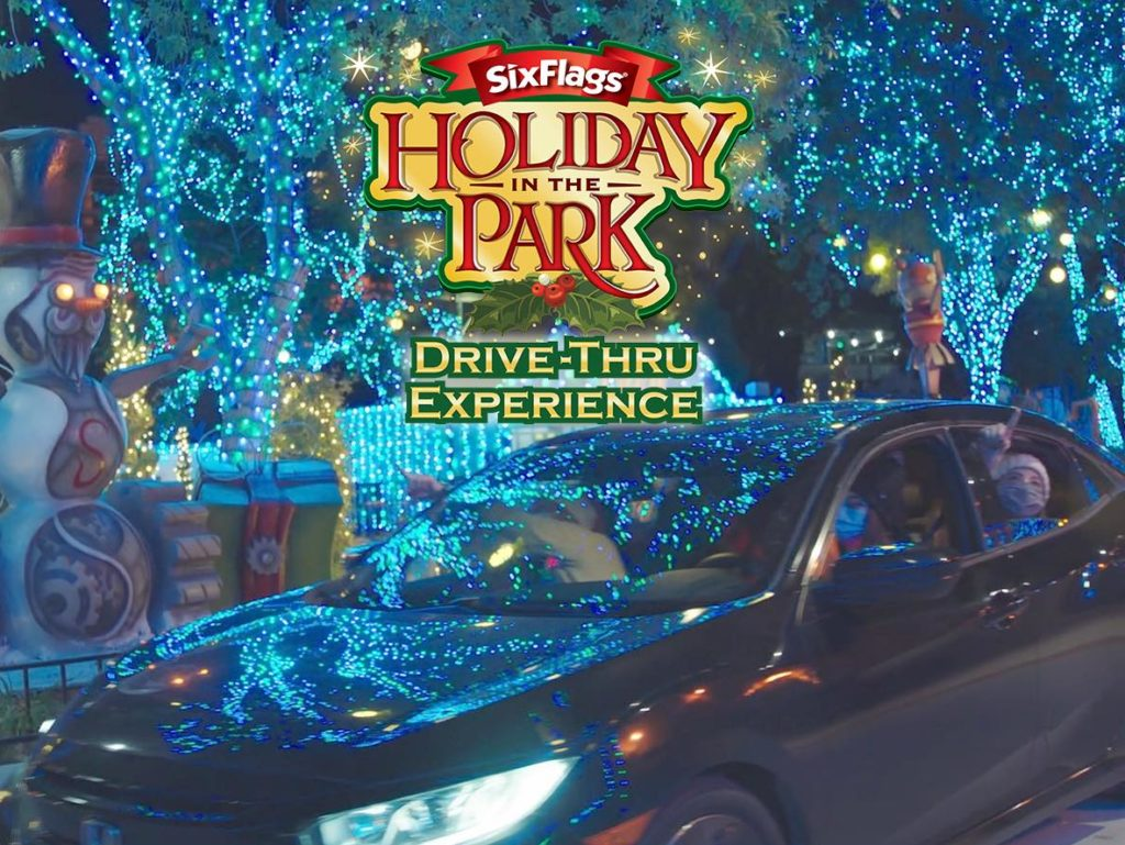 holiday lights six flags great america