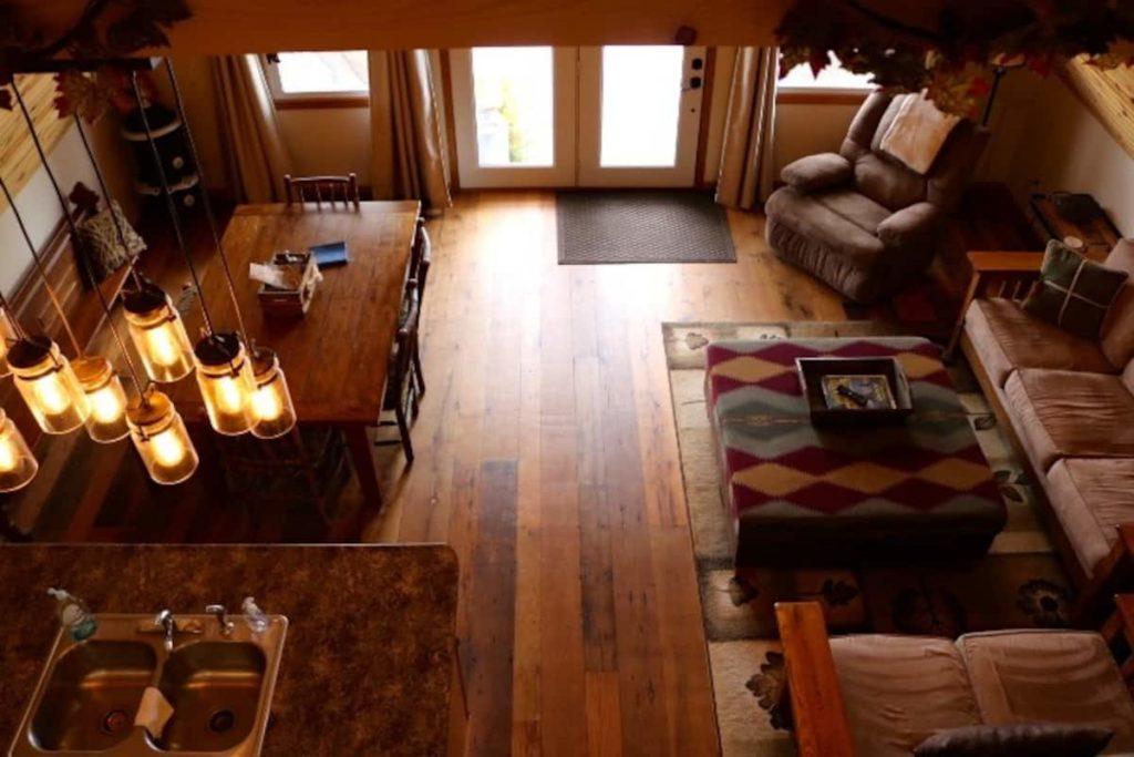 Inside of cute Quincy cabin