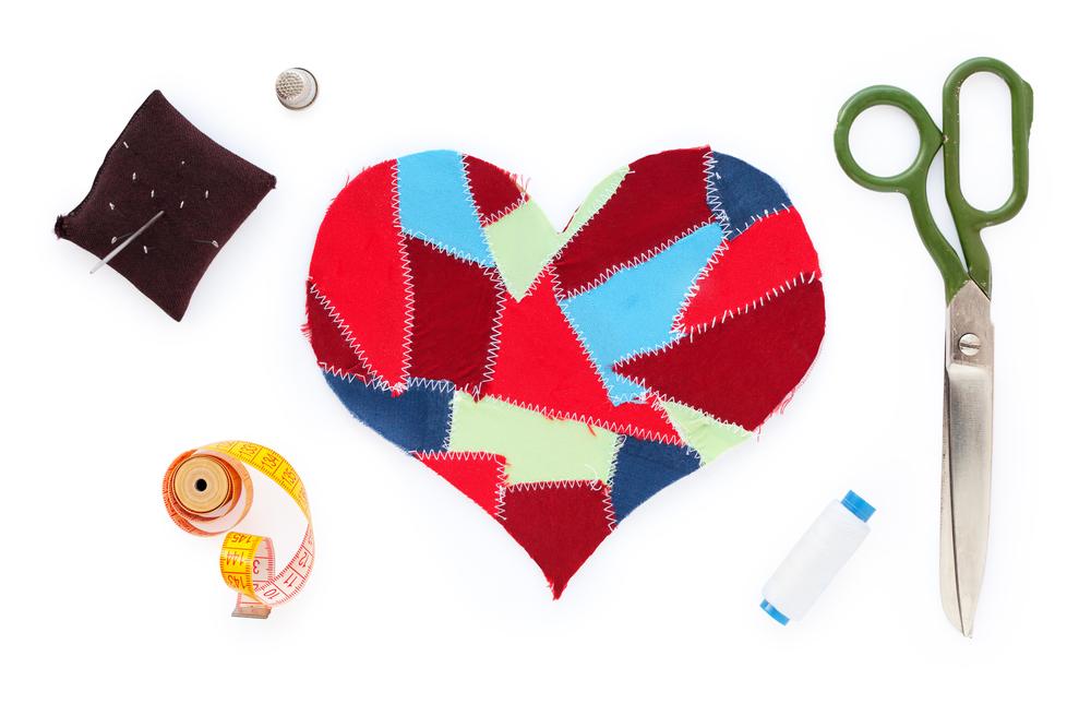 Fabric Scraps Heart