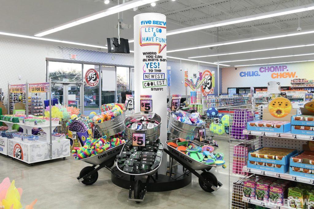 inside a five below store