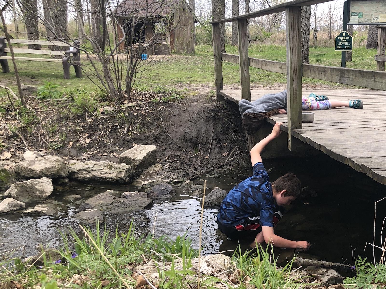 Creek Stomping at Imagination Grove