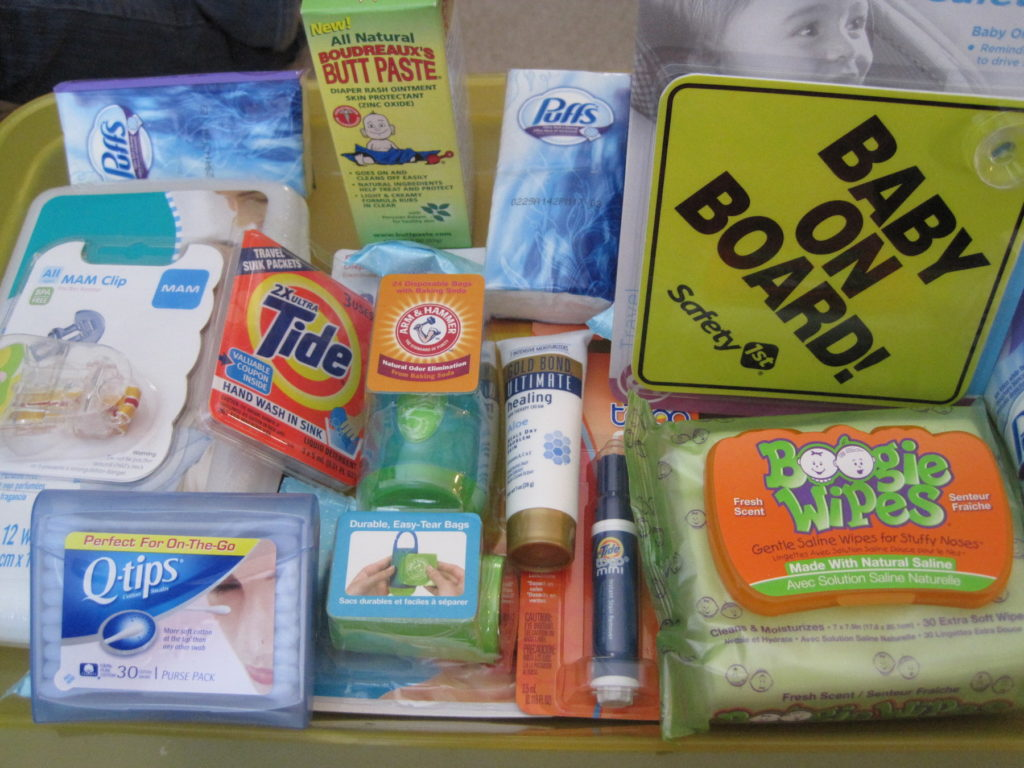 Items to fill a diaper bag