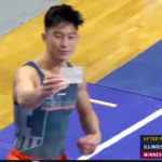 Illini Gymnast Vaccine card