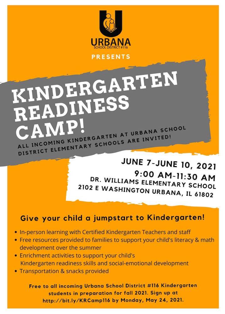 Urbana Kindergarten Readiness Camp
