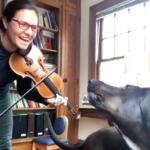 Meg Freivogel and dog Iris