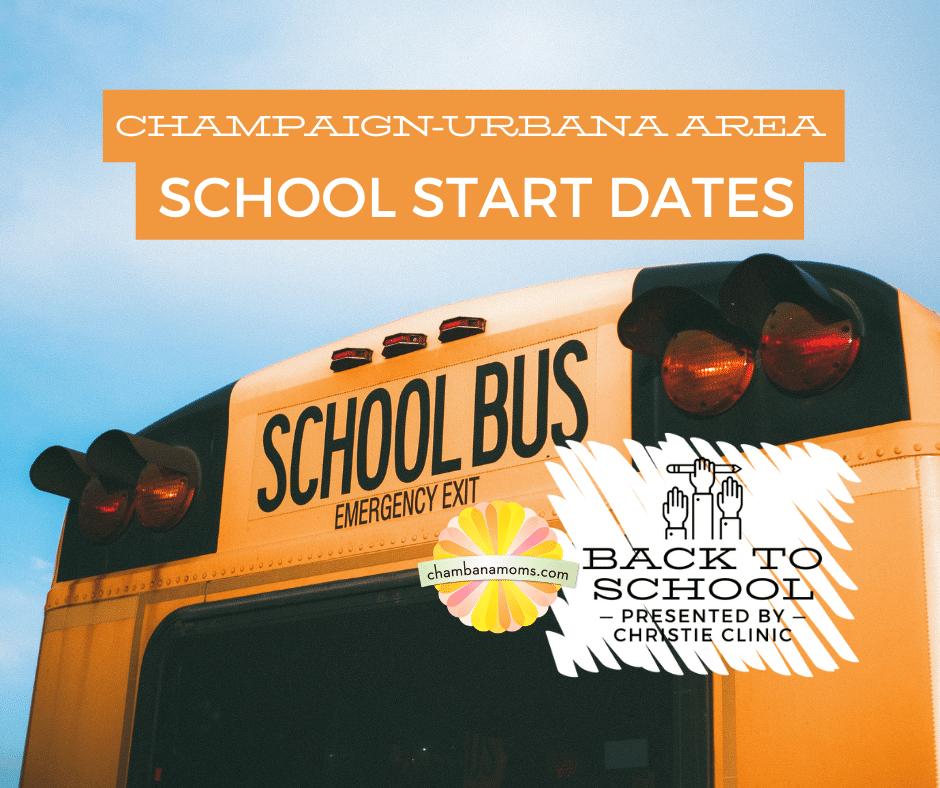Champaign-Urbana Area School Start Dates
