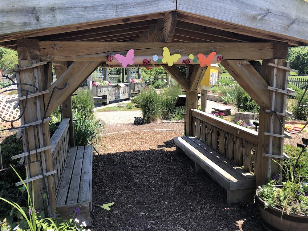 Children's playhouse in Idea Garden