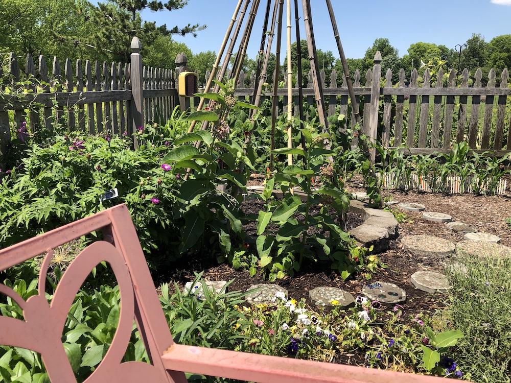 Teepee in corner of Children's Garden