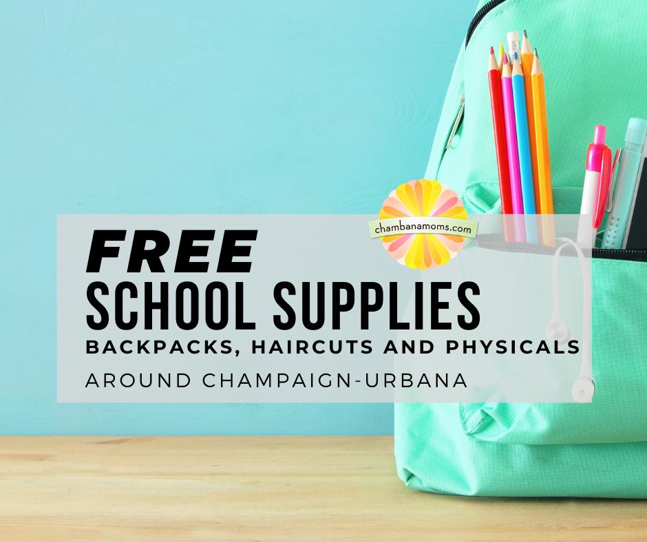 Útiles escolares, mochilas, cortes de pelo y exámenes de salud gratuitos en Champaign-Urbana
