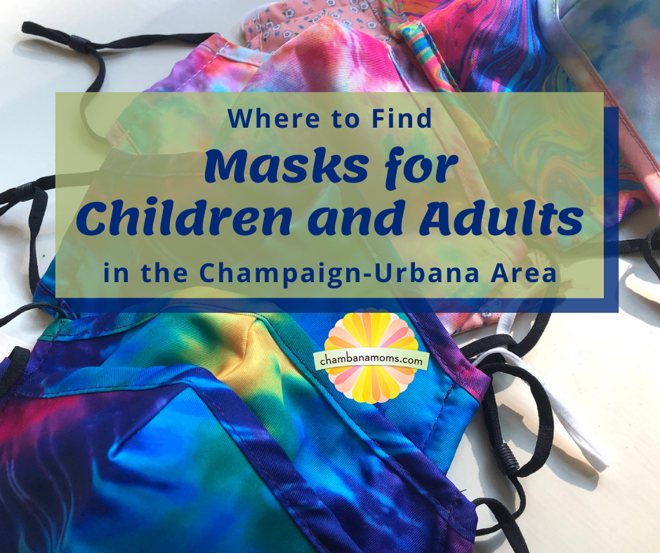 Where to find masks for children and adults in Champaign-Urbana