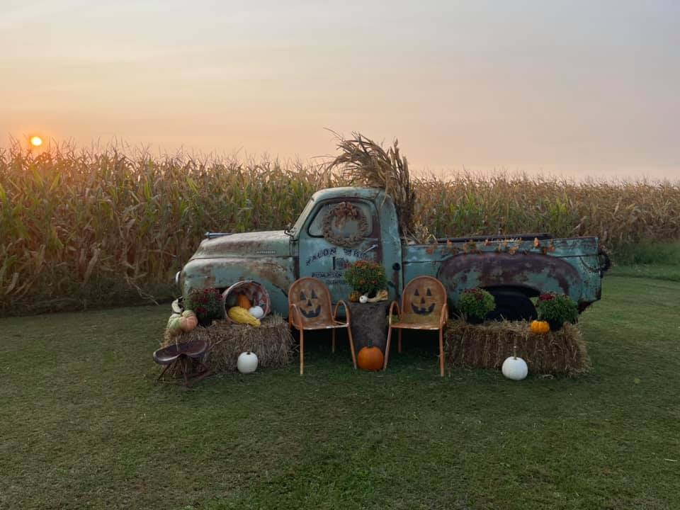 Wagon Wheel Pumpkin Farm Photo Spot 1