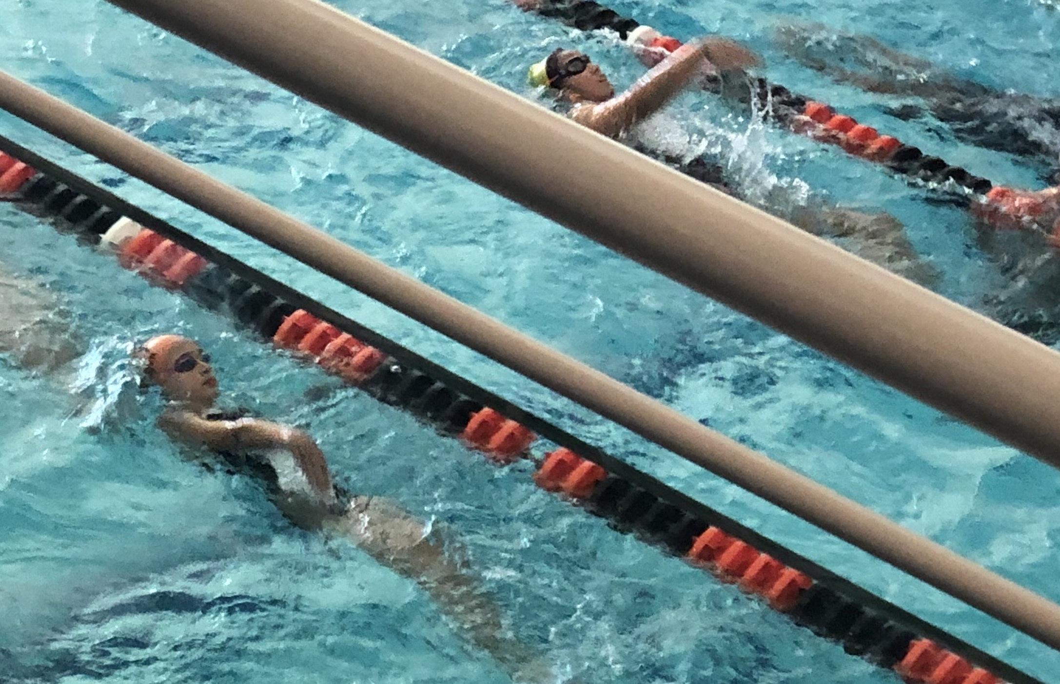 Swimmers at the Urbana Indoor Aquatic Center