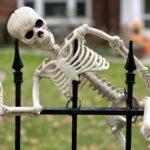 Skeleton on University Avenue fence